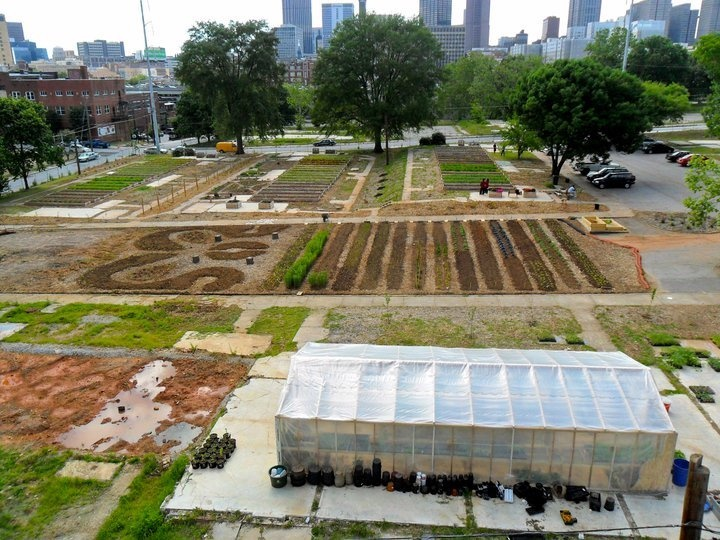 An Aerial Photo Of The Truly Living Well Center For Urban Agricultureu0027s  Wheat Street Gardens In Atlanta, GA. | Agribusiness | Pinterest | Organic  Gardening ...