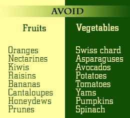 Foods to avoid in a low potassium diet