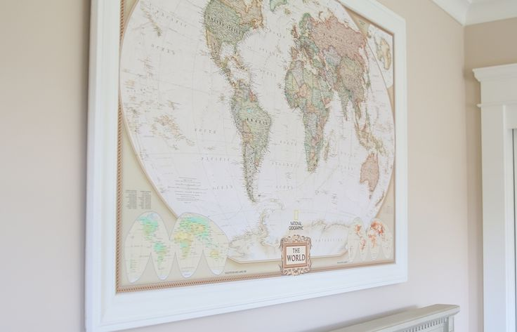 "While this isn't a Party Post, I wanted to share our nursery with you as we  had so much fun putting this room together! We are T minus 18 days from my  due date as I write this!   To start off, I knew we wanted a ""World Traveler"" theme for the nursery,  especially since my husband and I are world travelers ourselves, and our  little guy will likely be brought along for the ride! Plus, I think it is a  great way to expand their small space to include different places,  cultures, and ideas…"