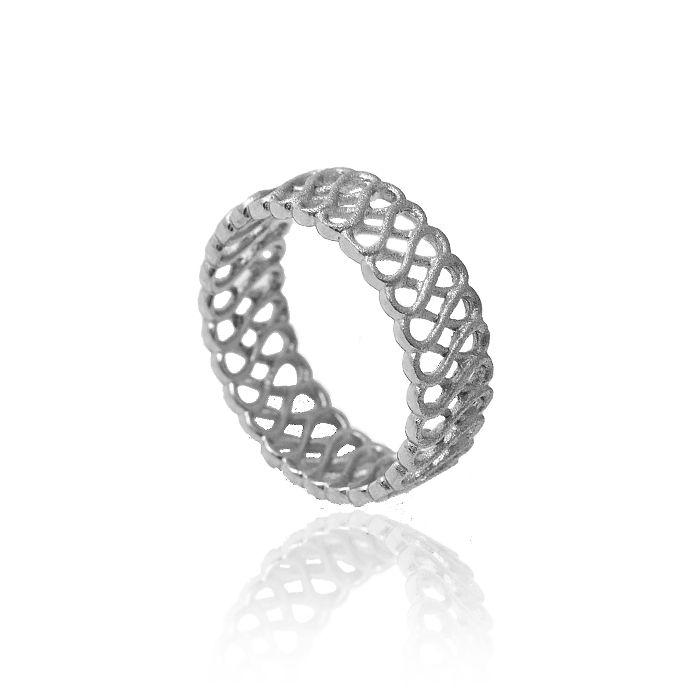 Eternity silver ring