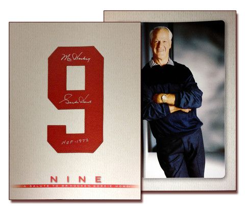 "Gordie Howe ""Nine"" Book - Autographed - Detroit Red Wings | Autograph Authentic"