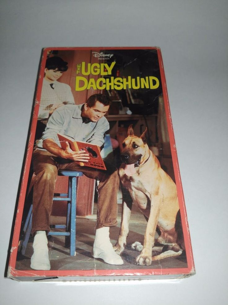 The Ugly Dachshund (VHS, 1997) Dean Jones, Suzanne Pleshette, Vintage VCR Tape