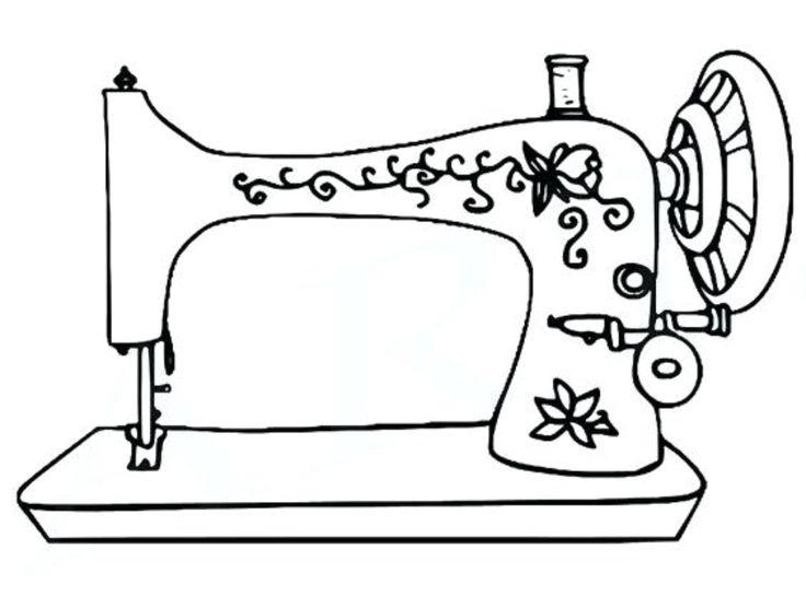 рисунок швейной машины карандашом главы