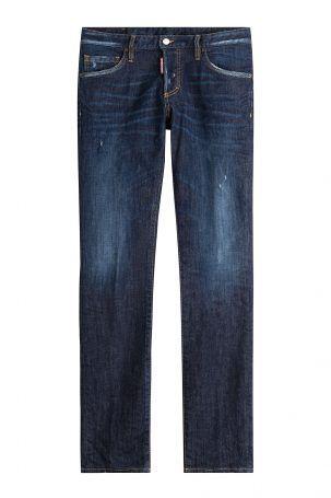 Dsquared2 Dsquared2 Straight-Leg-Jeans im Distressed-Look – Blau
