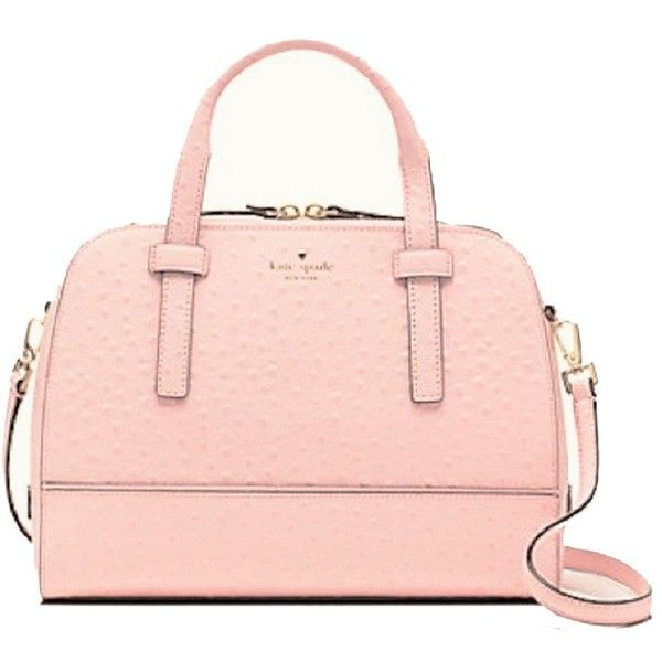 Amazon.com: Kate Spade New York Riverside Street Ostrich Small Felix... (300 CAD) ❤ liked on Polyvore featuring bags, handbags, kate spade bags, pink bag, pink hand bags, ostrich handbag and kate spade purses