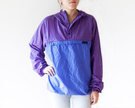 Purple Patagonia Rain Jacket // Patagonia Windbreaker by monaandco