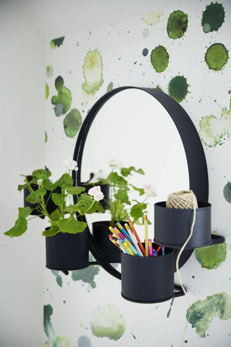 SÄLLSKAP Spiegel | nieuw limited IKEA IKEAnl IKEANederland design collectie stippen strepen groen roze zwart scandinavisch twist funky