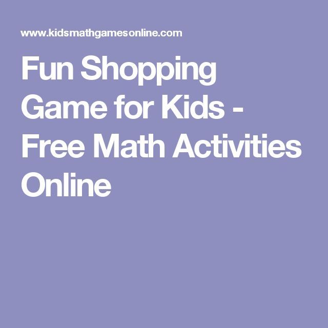 Fun Shopping Game for Kids - Free Math Activities Online
