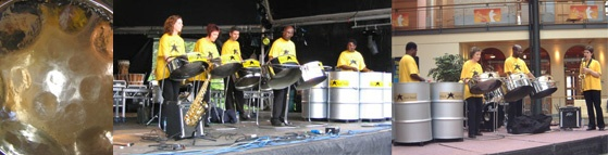 The Black Star Steel Band is a 7 piece Glasgow based steel band. The name is derived from the black star in the middle of the tricolour flag of Ghana as all founding members were Ghanaian.    The current members originated from a steel band formed with the aid of Glasgow City Council in 1990 during the year of culture celebrations.