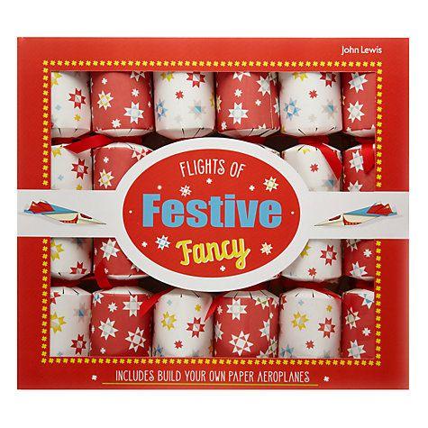 Buy John Lewis Flights of Festive Fancy Crackers, Set of 6 Online at johnlewis.com