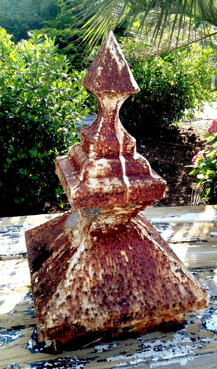 Antique cupola that came off an old barn.  To die for architectural piece!  Rusty yumminess!