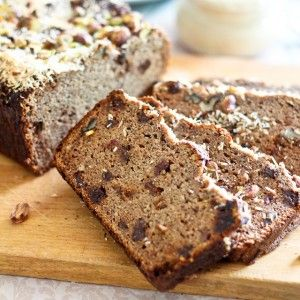 Paleo Banana Bread with Raisins-Use only coconut flour-Almond flour is too heavy-Feel free to use 4 ripe bananas if no plantains available