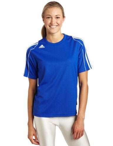 adidas Women's Squadra Ii Short-Sleeve Jersey Top, Cobalt/White, Small by adidas. $9.98. About adidas                The vision of company founder Adolf Dassler has long become reality, and his corporate philosophy the guiding principle for successor generations. The idea was as simple as it was brilliant. Adi Dassler's aim was to provide every athlete with the best possible equipment. It all began in 1920, when Adi Dassler made his first shoes using the few m...