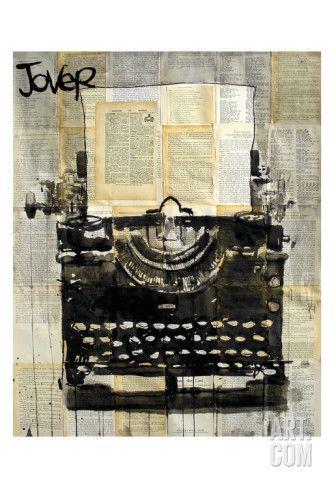 Machine à écrire Reproduction d'art