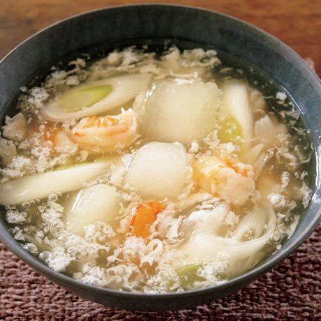 えびととうがんのとろとろスープ | 飛田和緒さんのスープの料理レシピ | プロの簡単料理レシピはレタスクラブネット