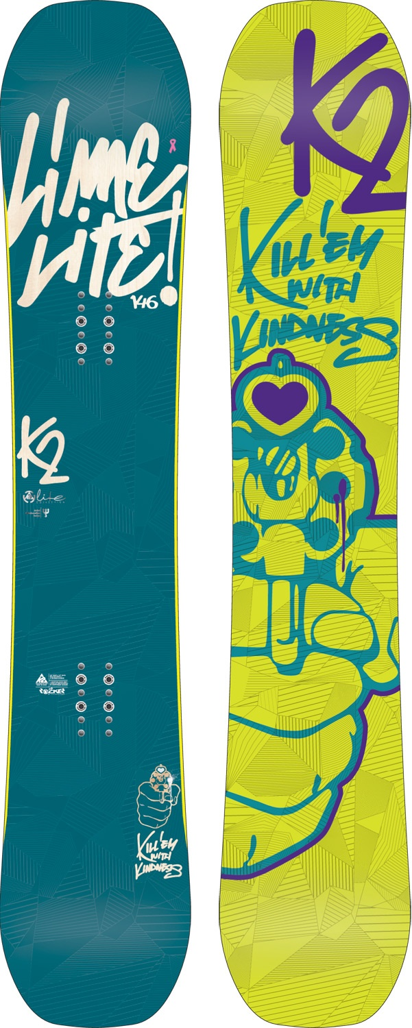 K2 Lime Lite Snowboard. THIS IS MY SNOWBOARD :)