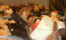 We have every aspect of your event covered.... Down to the mini desserts!!