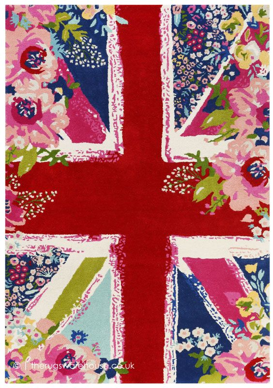 Bloom Kingdom Rug Union Jack Fl Rugs Wool Carpet