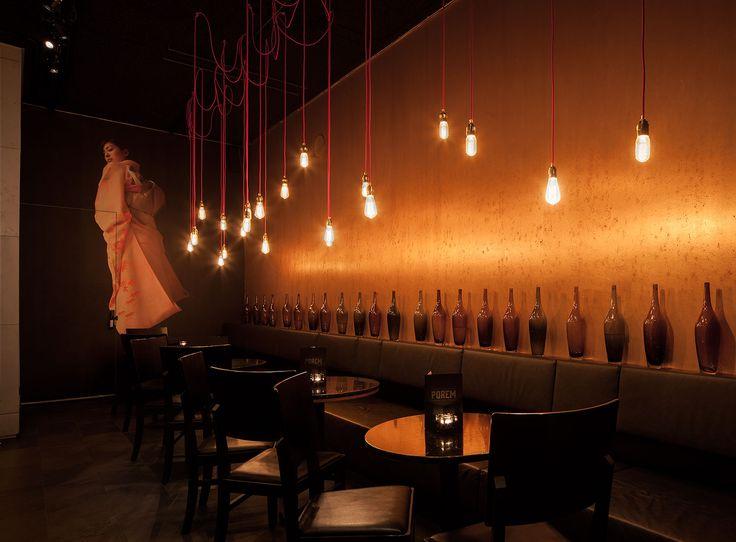 Interior design Porum Amsterdam; design by Ninetynine #bar #lights #