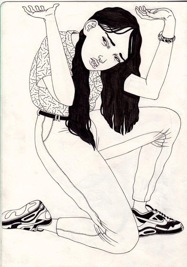 Illustration: Art / Line Drawing / Pen / Sketchbook / Black & White