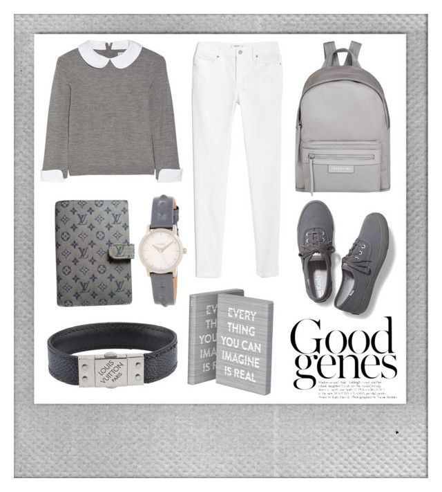 """Primsus #04"" by oktaeprimsus on Polyvore featuring Polaroid, Keds, Longchamp, Alice + Olivia, MANGO, Nuuna, Louis Vuitton and Nixon"