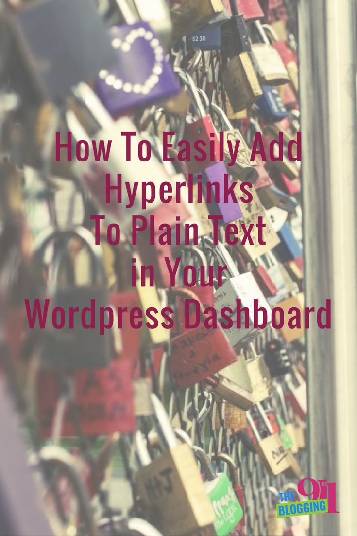 Hyperlinking plain text is when you link a word or group of words to another piece of content within the same post or page of your WordPress website. For example: This could be used as in a … https://theblogging911.com/easily-hyperlink-plain-text-wordpress-text-editor/