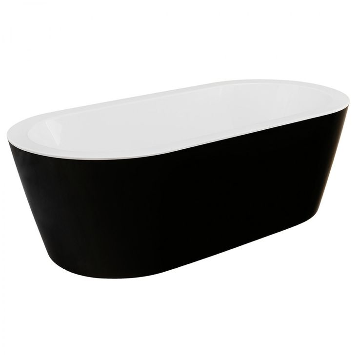 Como Freestanding Bath Black - Baths - Bathroom