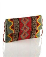 Moyna Navajo Beaded Clutch