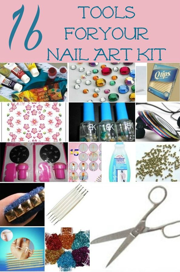 Best 25 nail art supplies ideas on pinterest nail art diy diy 16 tools that you need in your nail art kit prinsesfo Choice Image