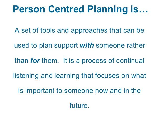 person centred planning essay Full-text paper (pdf): introducing person-centred planning: a case study.