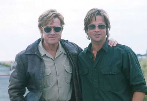 They're the same freaking guy 30 years apart - seriously!Celebrities Style, Gorgeous Men, Handsome Men, Spy Games, Bradpitt, Robert Redford, Movie, Brad Pitt, People