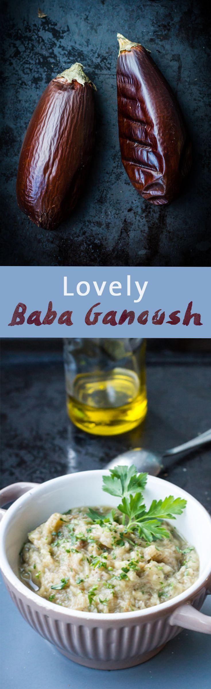 Lovely Baba Ganoush Recipe | Simple Eggplant, Garlic, Lemon and Olive oil recipe | www.haveanotherbite.com | #recipe #yum #arabic