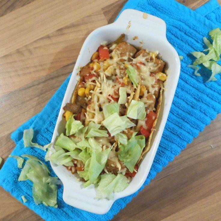 Mexicaanse taco's met gekruid varkensvlees, sperziebonen, maïs en paprika / Mexican taco's with pork, maïs, paprika and green beans - Het keukentje van Syts