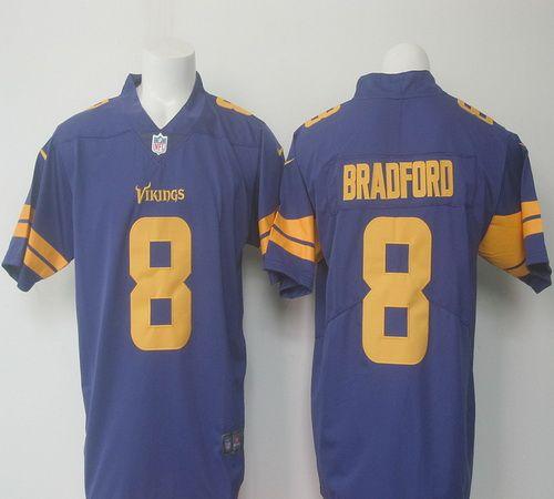 776fb2063 ... Jersey NFL Nike Mens Minnesota Vikings 8 Sam Bradford 2016 NFL Colore  Rush Rush Limited Stitched ...