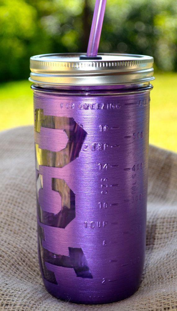 TCU 24 oz. Mason Jar Tumbler by MiddleMadeDesigns on Etsy