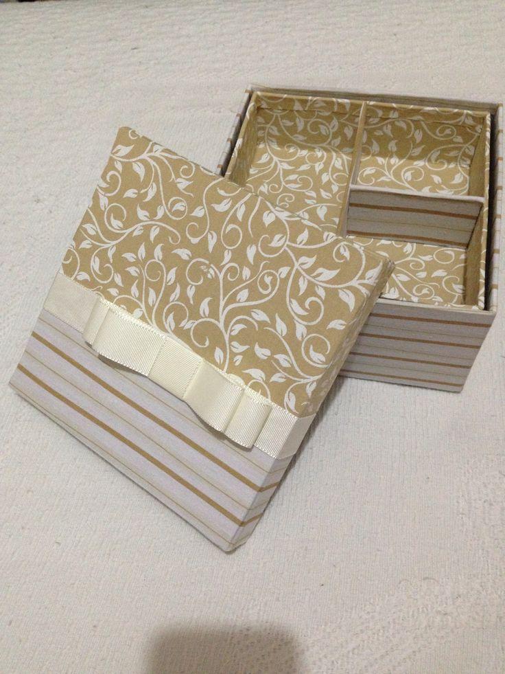 Caixa de tecido dupla