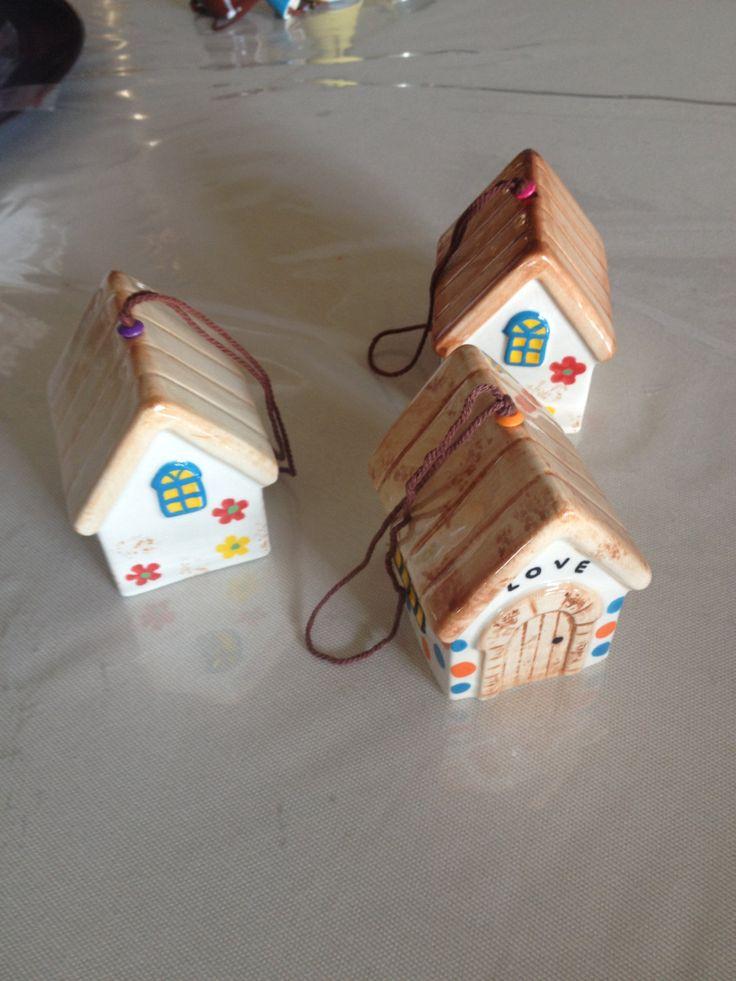 Ceramic hanging hause, casetta in ceramica dipinta a mano,   handpainted ceramic house, hanging house, ceramic gift di NuuForYou su Etsy