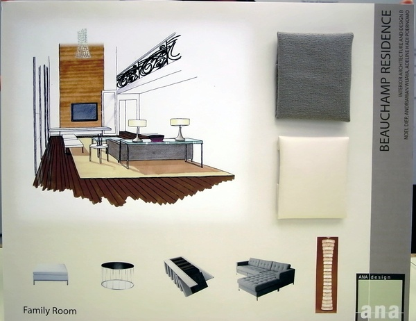 A great way to show your rendering on your final presentation board - 1