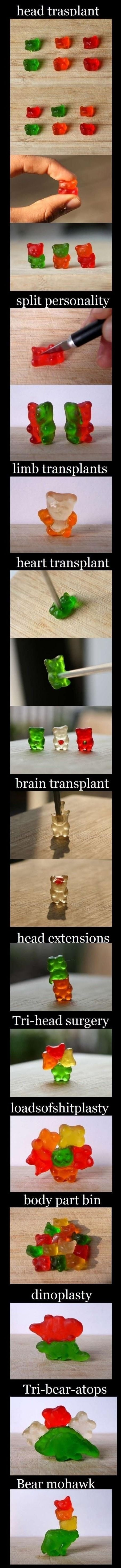Gummy bear madness!  this just made me laugh so hard.