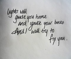 I want Coldplay lyrics in my home. Right now.