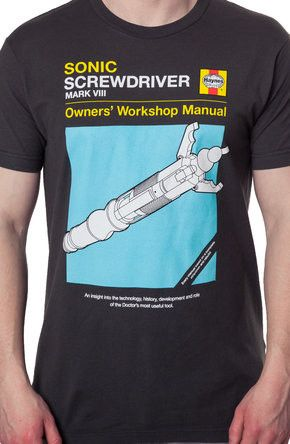 Sonic Screwdriver Doctor Who Shirt: Non 80s TV: Doctor Who Shirts