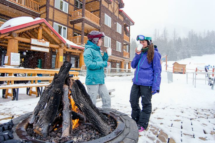 Stay toasty by the Slopeside cafe open firepit. It's overlooking the Mighty Moose Lift so parents can keep an eye on the little ones whilst they warm up with a coffee. Try the Pho, too. It's tasty Photo:  abbydellphotography.com