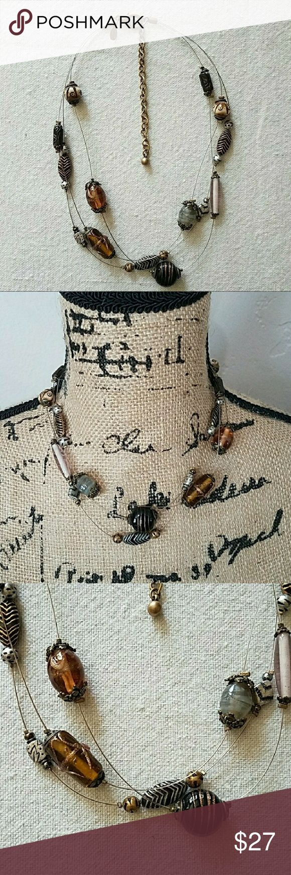 Chico's Multi Layered Necklace. Chico's Multi Layered Necklace. Gorgeous mix of glass beads and metal.Sure to jazz up any outfit. Wear everyday, office, party or night out. Feel free to ask any questions before purchase. Bundle & Save. Offers welcome. Chico's Jewelry