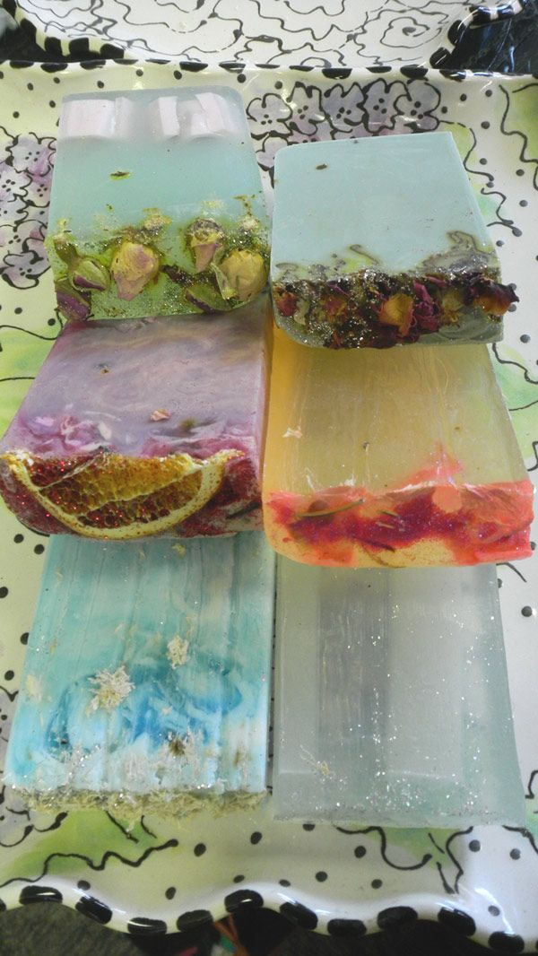 yummy soaps..I buy & love hand made soaps for my house...