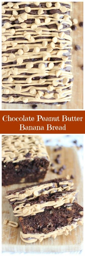 Dense and moist banana bread loaded with peanut butter and chocolate, it's totally crave-worthy!