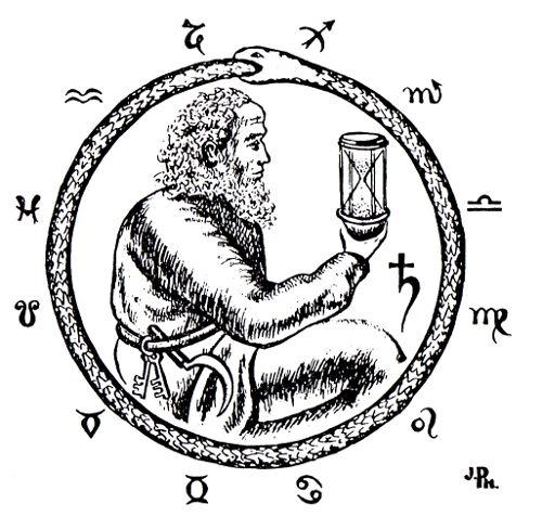Chronos-Saturne et l'Ourobouros; dans l'Ere du Verseau de Paul Le Cour