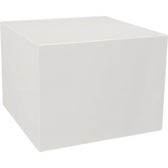 city slicker white side table | CB2