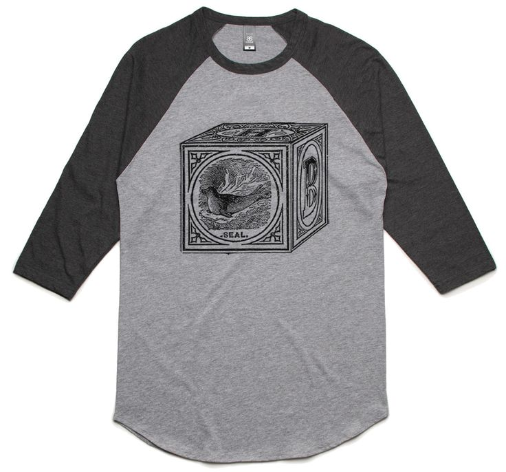 theIndie Children's Toy Block (Black) 3/4-Sleeve Raglan Baseball T-Shirt