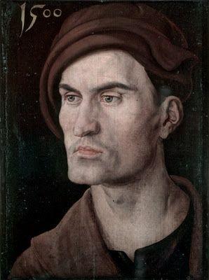 Portrait of a Young Man by Albrecht Dürer, 1500 http://scagermanrenaissance.blogspot.com/2011/10/albrecht-durer-1500.html