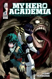 My Hero Academia, Vol. 6 | http://paperloveanddreams.com/book/1158984882/my-hero-academia-vol-6 | In the aftermath of the sports festival, the Class 1-A students begin their internships. Midoriya goes to study under Gran Torino, who was once All Might�s mentor. Gran Torino appears to be a washed-up nutjob, but the old hero still has more moves than a football team, and Midoriya has a lot to learn! Elsewhere, the League of Villains enacts another sinister plot and unleashes a terrifying new…